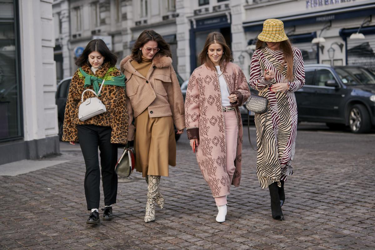 Street style at Copenhagen Fashion Week. Photo: Imaxtree