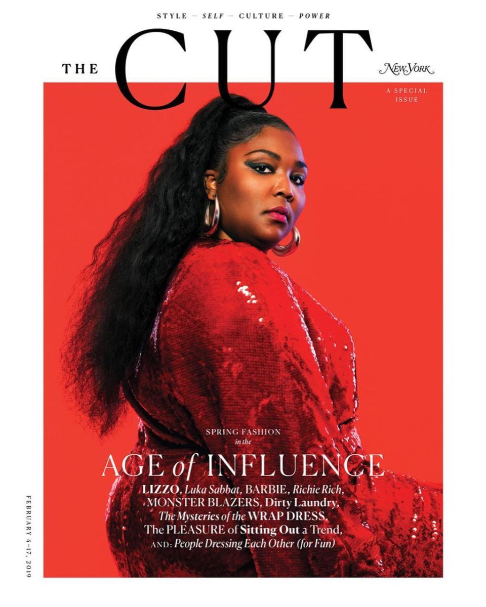 "Lizzo on the Spring 2019 fashion issue of ""New York Magazine""'s The Cut. Photo:Pari Dukovic"