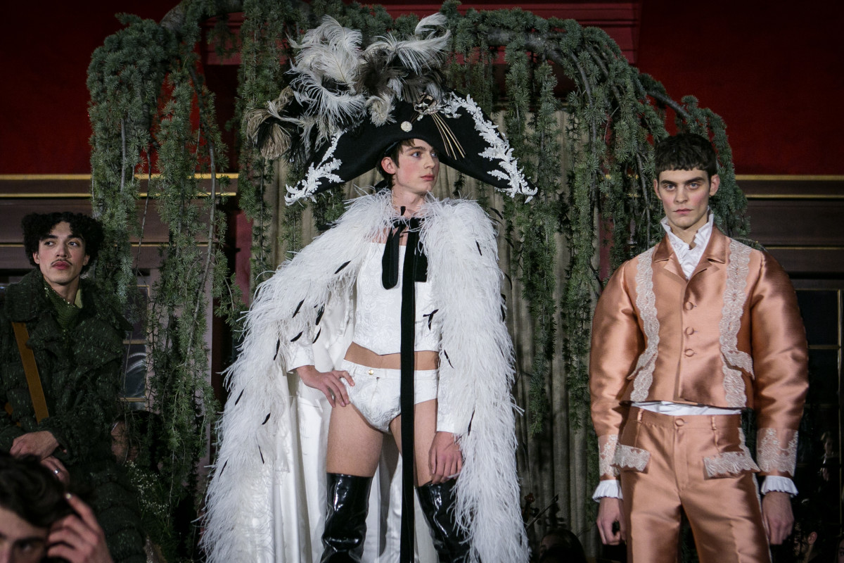 Models walk the runway at the Palomo Spain show on January 28, 2018 in Madrid, Spain. Photo: Pablo Cuadra/Getty Images