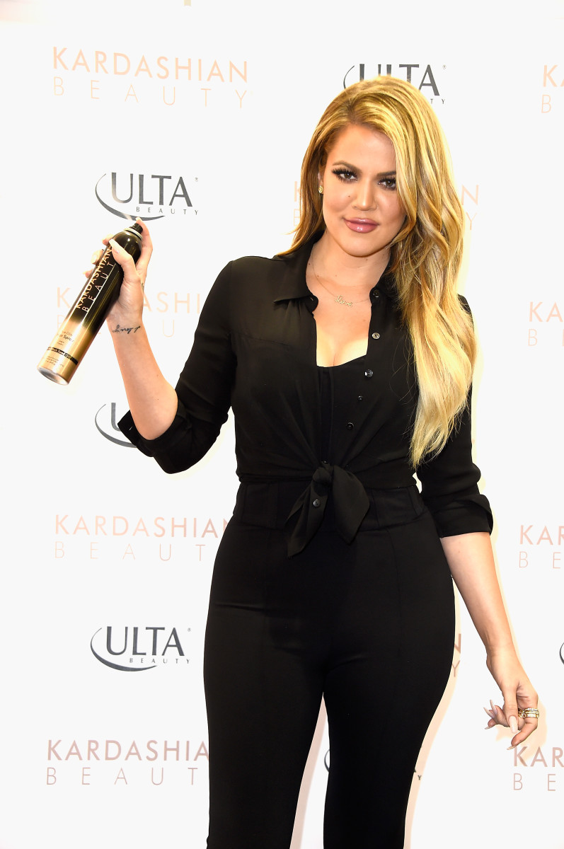 Khloé Kardashian at an Ulta event to promote Kardashian Beauty in 2015. Photo: Frazer Harrison/Getty Images