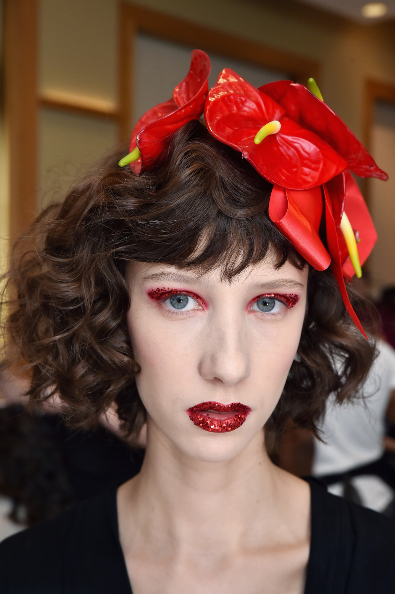 The beauty look at the Rodarte Fall 2019 show. Photo: Getty Images for JNSQ Wines