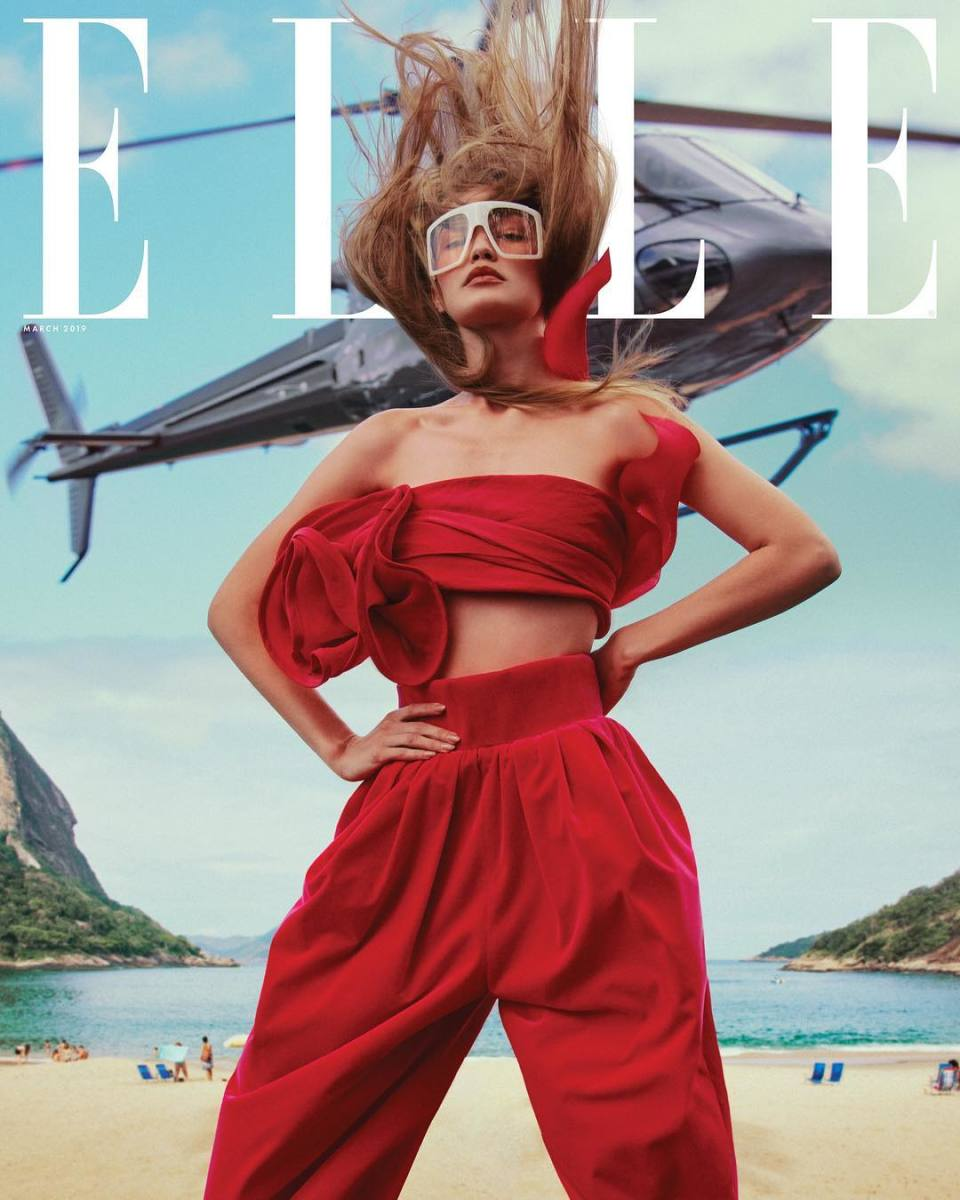 "Gigi Hadid on the March 2019 cover of ""Elle."" Photo: Chris Colls"