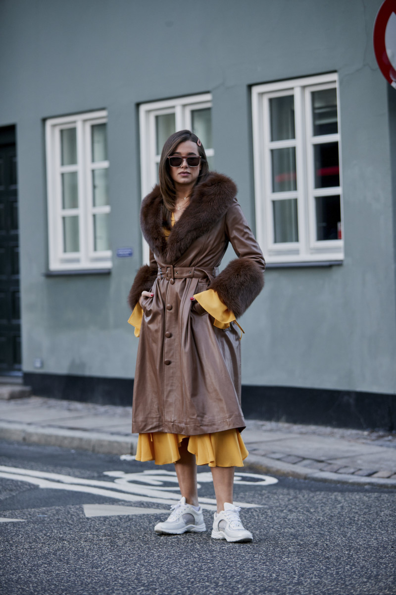 Statement outerwear. Photo: Imaxtree