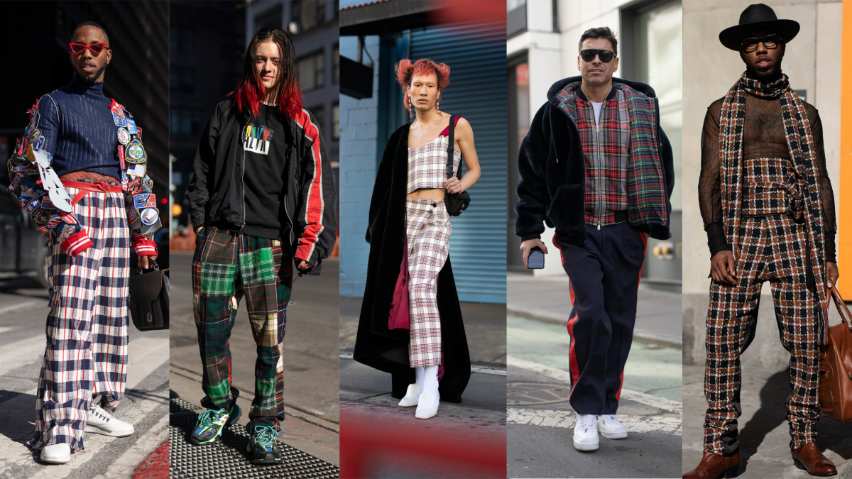 Plaid at New York Fashion Week: Men's. Photos: Imaxtree