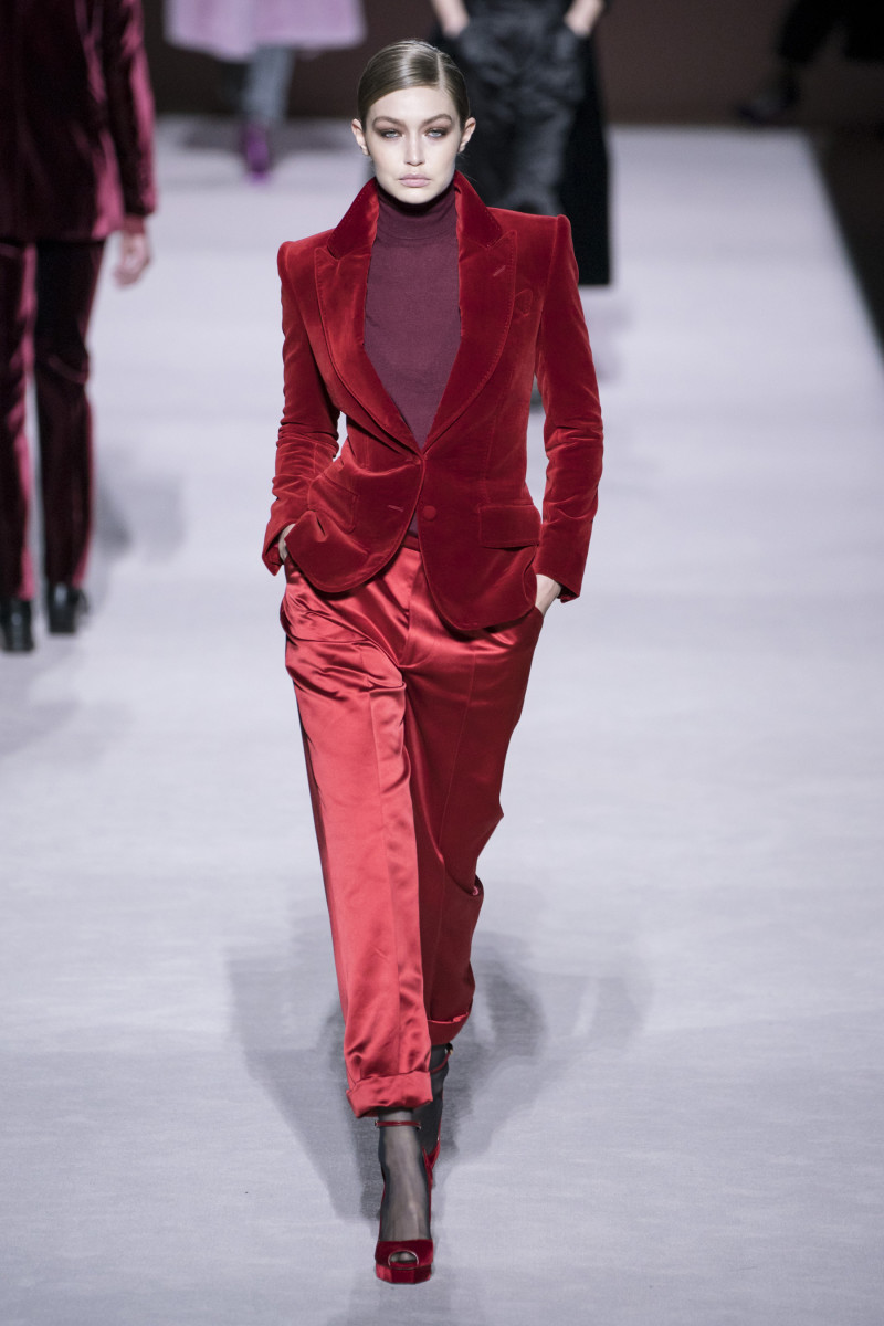 A look from the Tom Ford Fall 2019 collection. Photo: Imaxtree