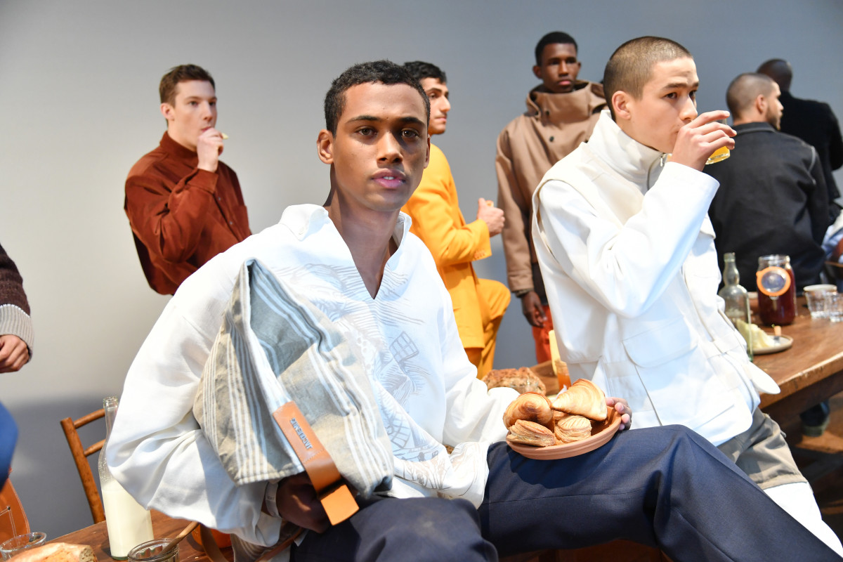 Models at the Jacquemus Fall 2019 men's presentation during Paris Fashion Week Men's. Photo: Pascal Le Segretain/Getty Images
