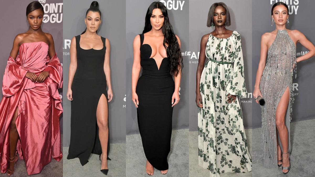 Leomie Anderson, Kourtney Kardashian, Kim Kardashian West, Duckie Thot and Kelsey Merritt. Photo: Getty Images