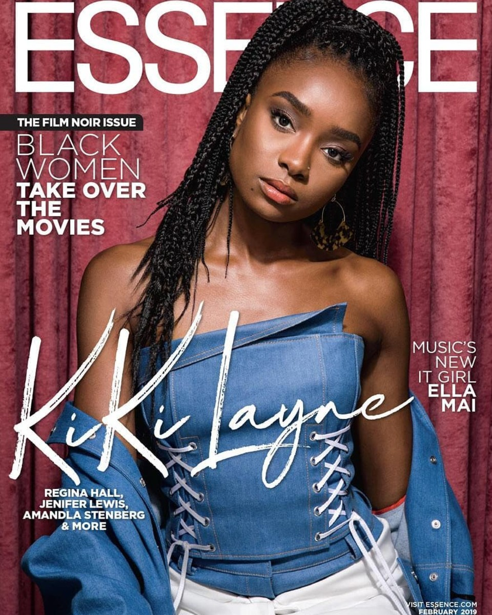 "Kiki Layne on the February 2019 cover of ""Essence."" Photo: Ian Maddox"