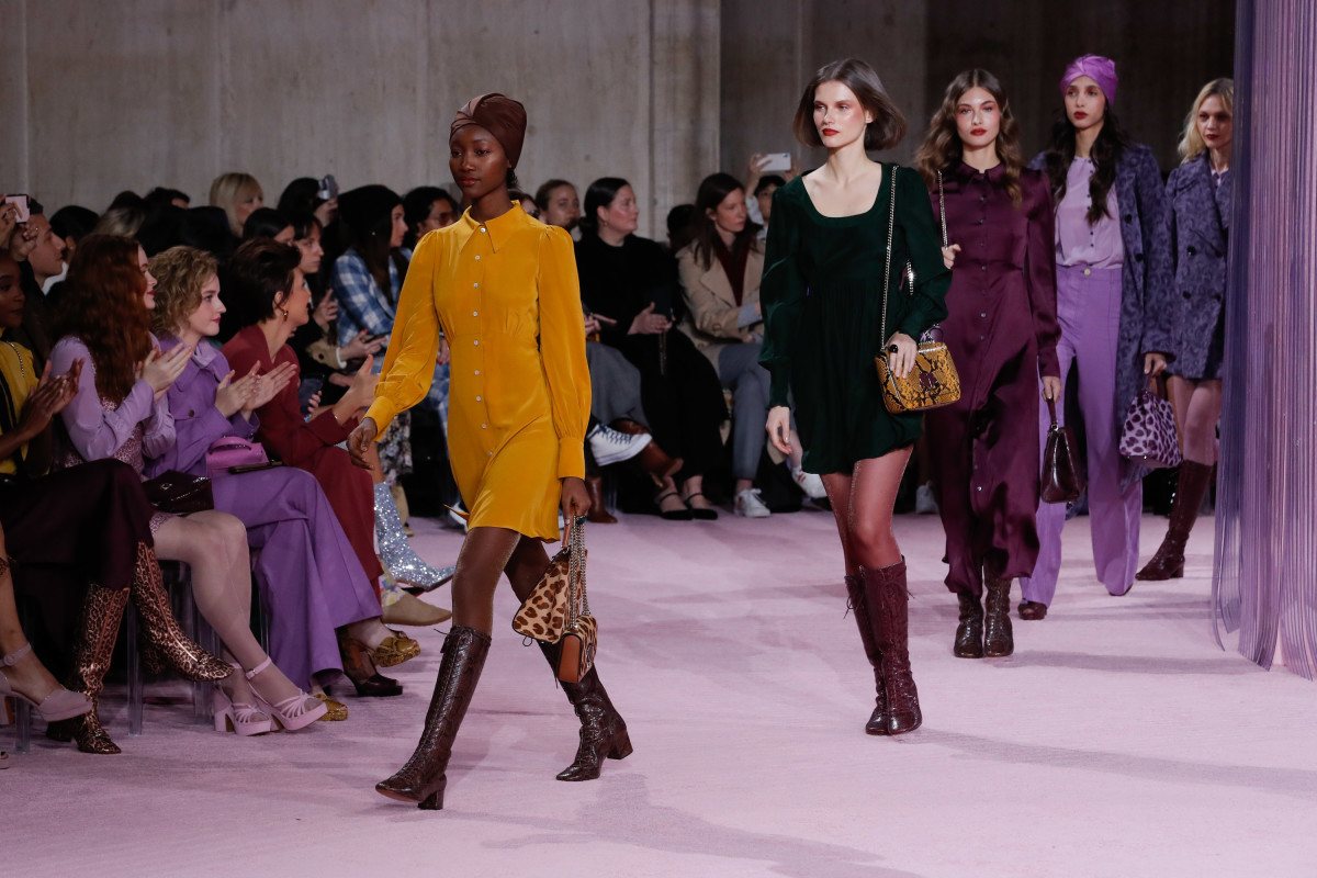 Looks from the Kate Spade New York Fall 2019 collection. Photo: JP Yim/Getty Images for TRESemme