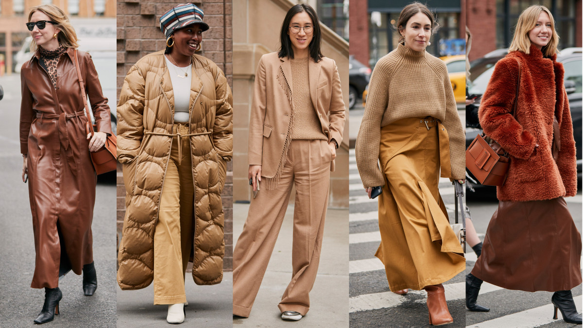 Brown and beige at New York Fashion Week. Photos: Imaxtree