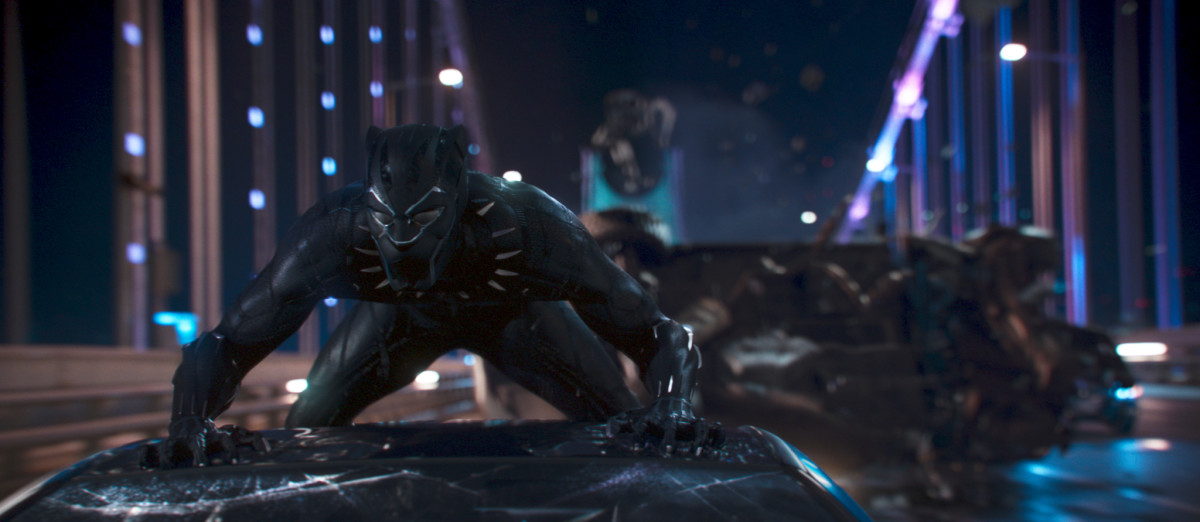 """[The Black Panther] suit is empowering that whole idea of the hero who can save us all; that it's strong, it's beautiful, it's kingly, it's sleek, it's dynamic and it has history,"" says Carter, who was recently honored by the fashion industry at the IMG And Harlem Fashion Row event during NYFW Photo: Film Frame/Marvel Studios 2018"