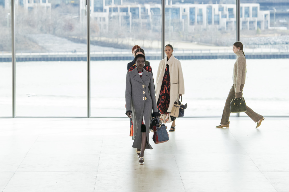 Looks from the Tory Burch Fall 2019 collection. Photo: Imaxtree