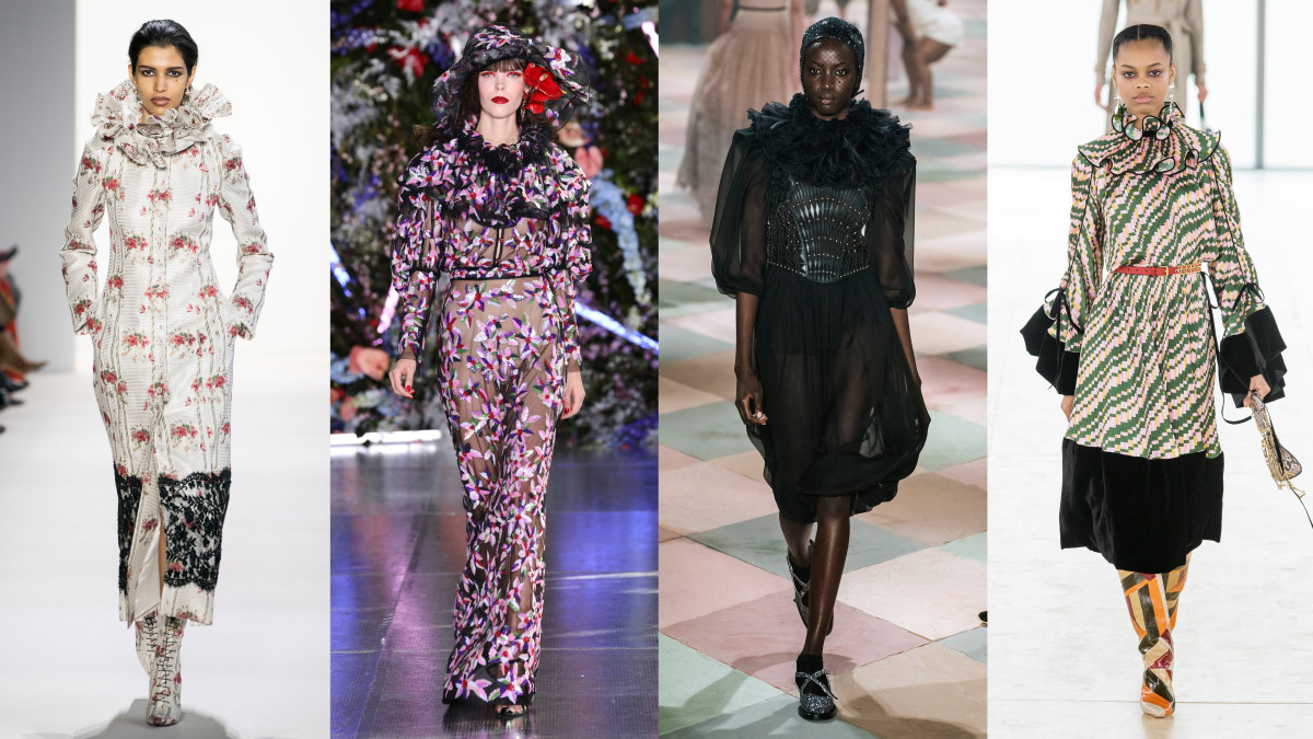 Brock Collection, Rodarte, Dior Haute Couture and Tory Burch. Photos: Imaxtree