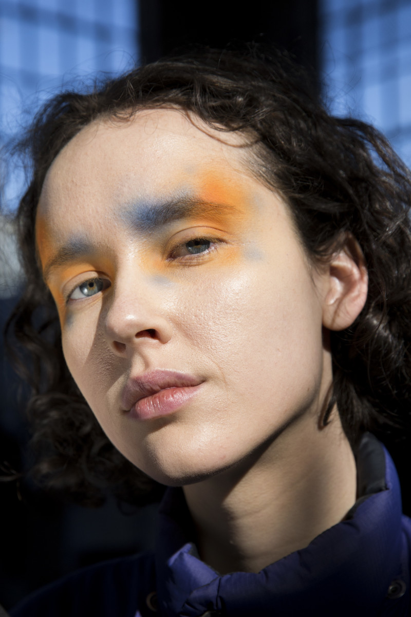 The beauty look from the Eckhaus Latta Fall 2019 show. Photo: Imaxtree