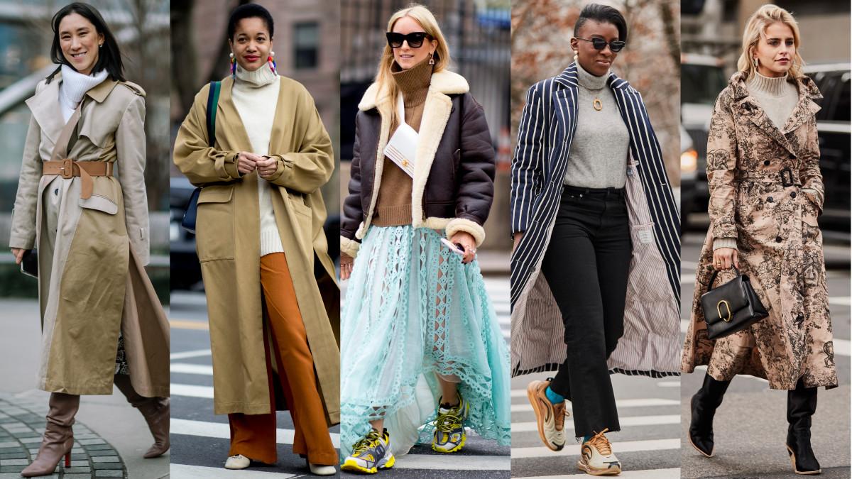 Turtlenecks at New York Fashion Week. Photos: Jeremy Kang/Fashionista; Imaxtree (4)