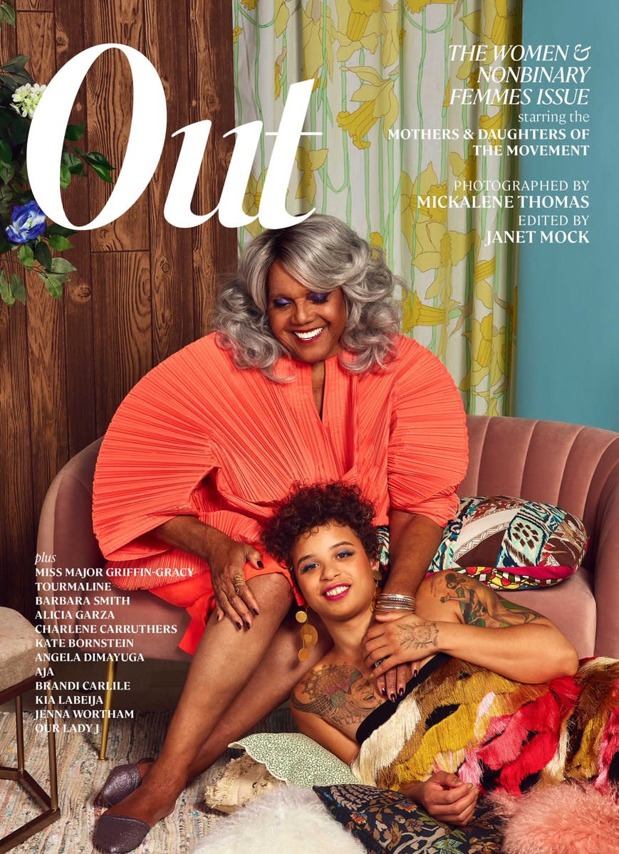 "The March issue of ""Out."" Photo: Mickalene Thomas"