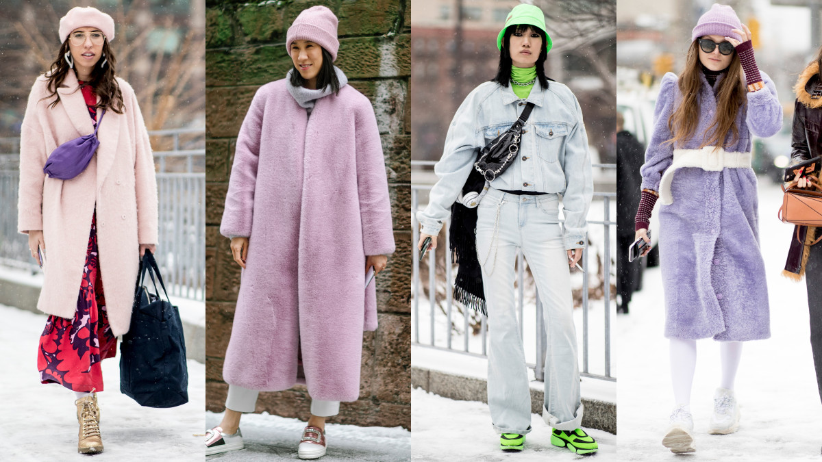 Color coordination at New York Fashion Week. Photos: Imaxtree; Jeremy Kang/Fashionista; Imaxtree (2)