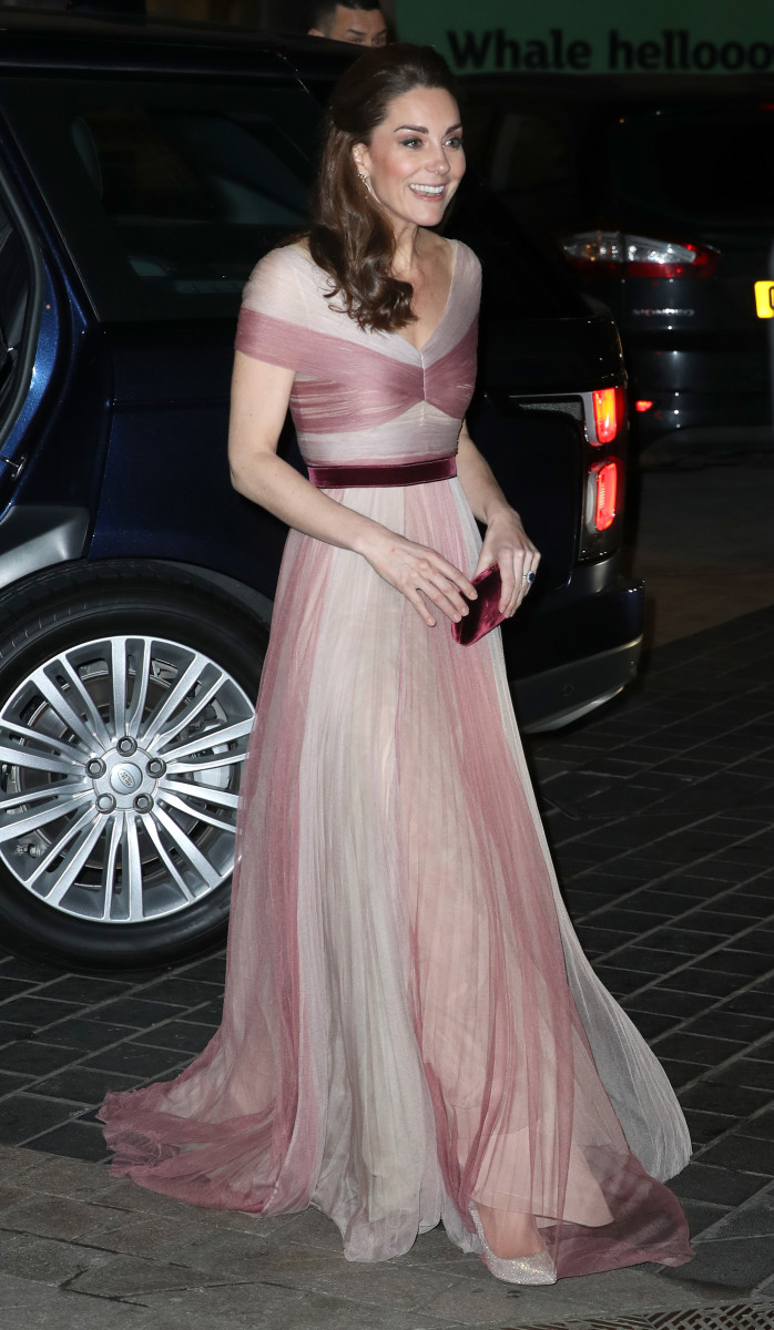 Kate Middleton, the Duchess of Cambridge, in a Gucci gown. Photo: Chris Jackson/WPA Pool/Getty Images