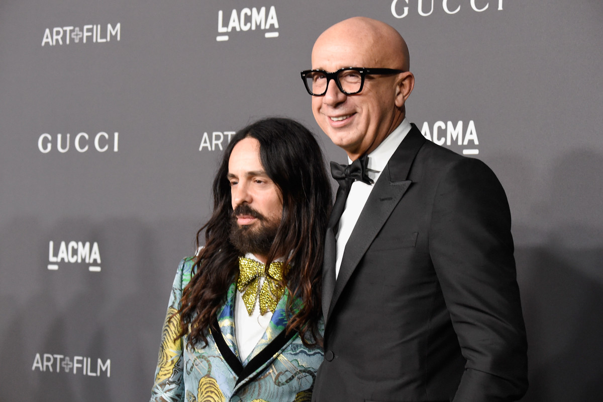 Gucci Creative Director Alessandro Michele with brand CEO and President Marco Bizzarri. Photo: Frazer Harrison/Getty Images