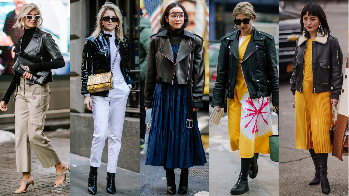 Short Black Jackets Made a Street Style Comeback on Day 7 ...