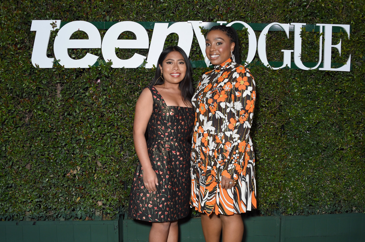 Yalitza Aparicio and Lindsay Peoples Wagner at Teen Vogue's Young Hollywood Party. Photo: Gregg Deguire/Getty Images for Teen Vogue