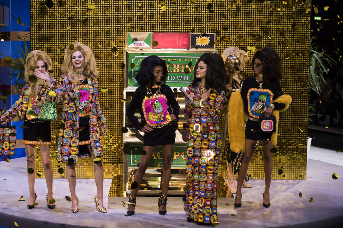 Looks from Moschino's Fall 2019 collection. Photo: Imaxtree
