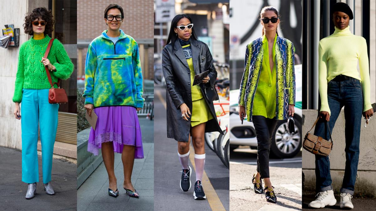 On the street at Milan Fashion Week. Photos:Chiara Marina Grioni/Fashionista (3); Imaxtree (2)