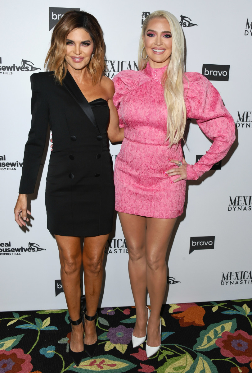 Rinna and Erika Jayne at the 'The Real Housewives Of Beverly Hills' Season 9 premiere party. Photo by Jon Kopaloff/Getty Images