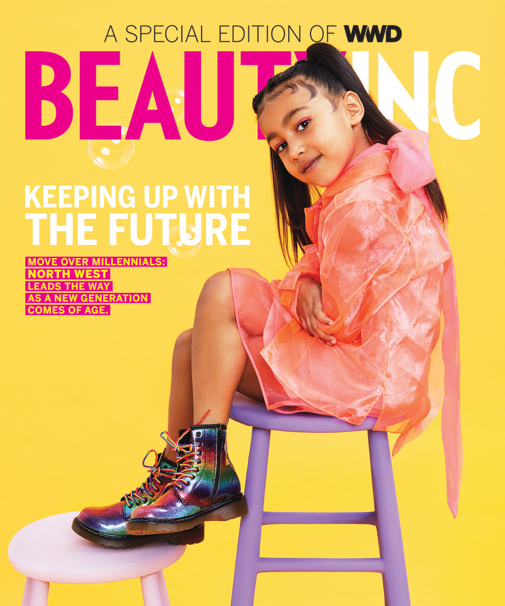 North West on the cover of 'WWD Beauty Inc'. Photo: JUCO for WWD