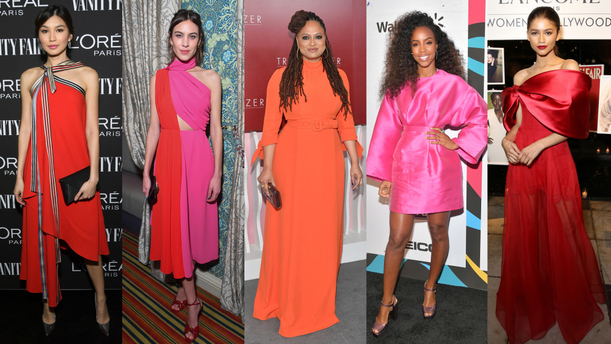 Gemma Chan, Alexa Chung, Ava DuVernay, Kelly Rowland and Zendaya. Photos: Getty Images