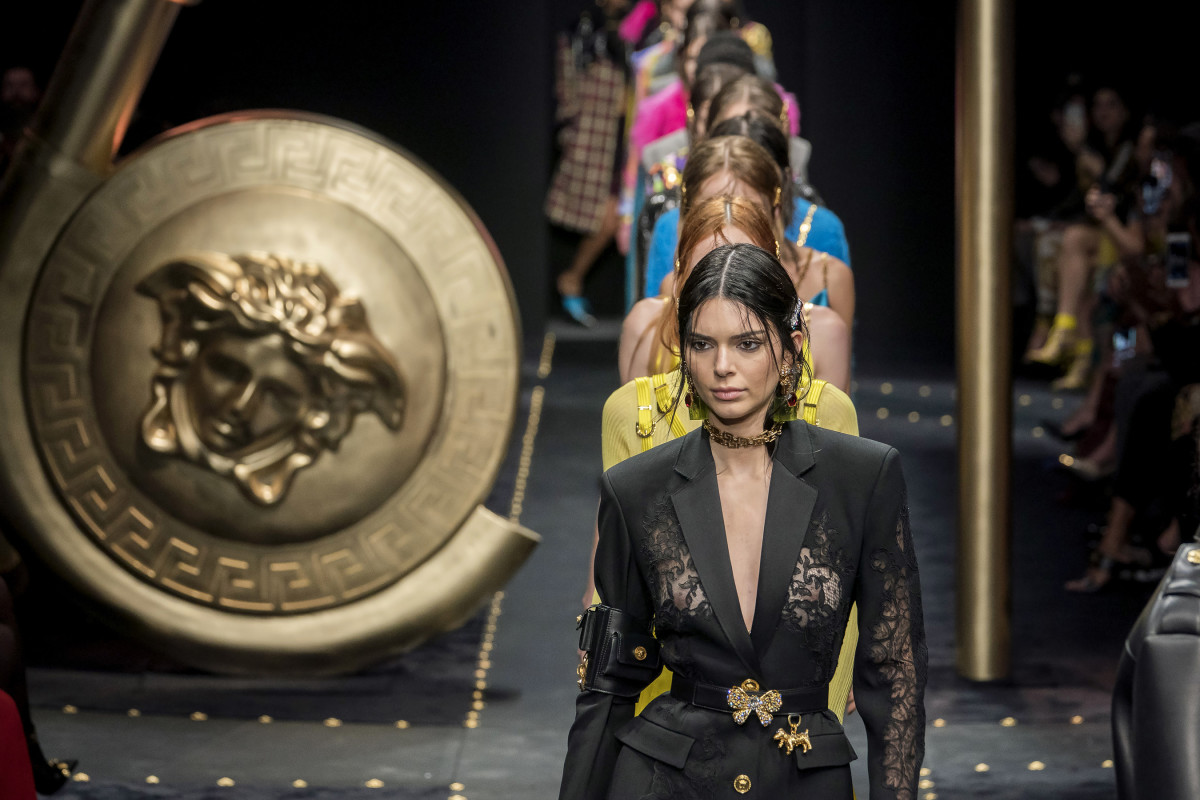 Looks from the Versace Fall 2019 collection. Photo: Imaxtree