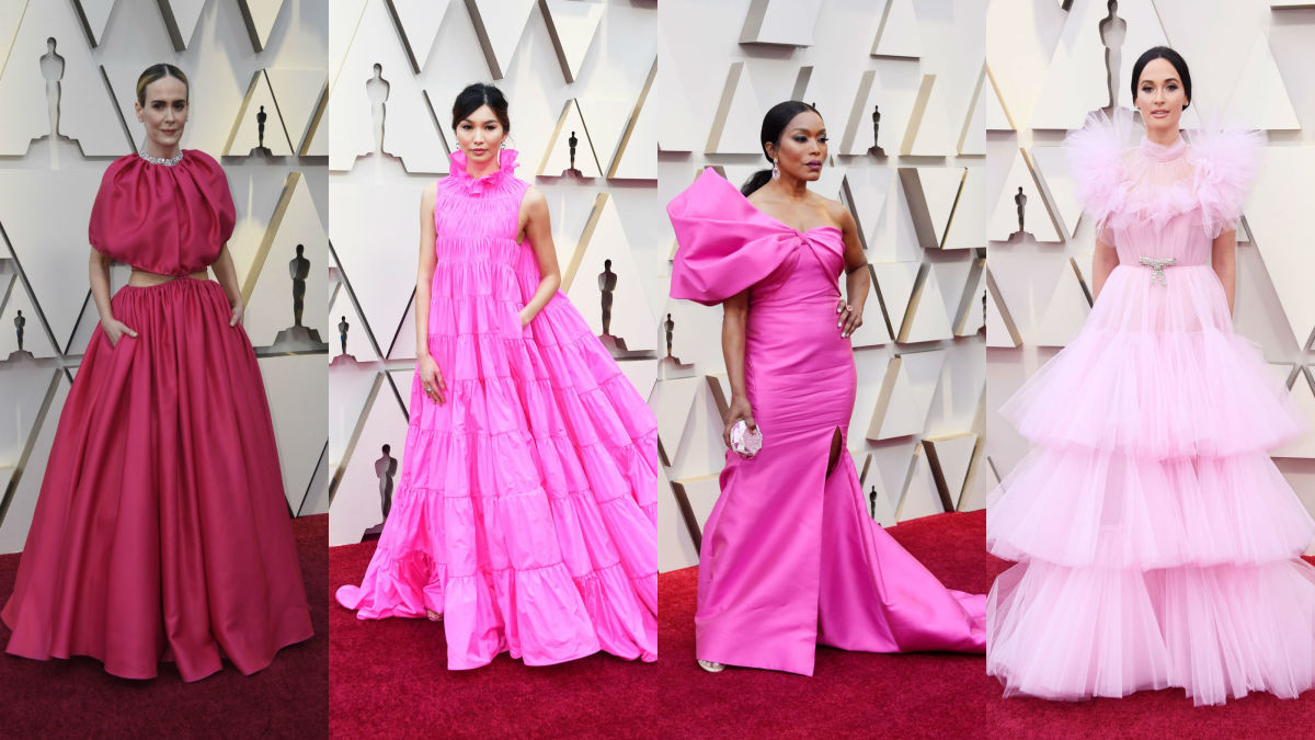 Sarah Paulson, Gemma Chan, Angela Bassett, Kacey Musgraves at the 91st Annual Academy Awards. Photos: Getty Images