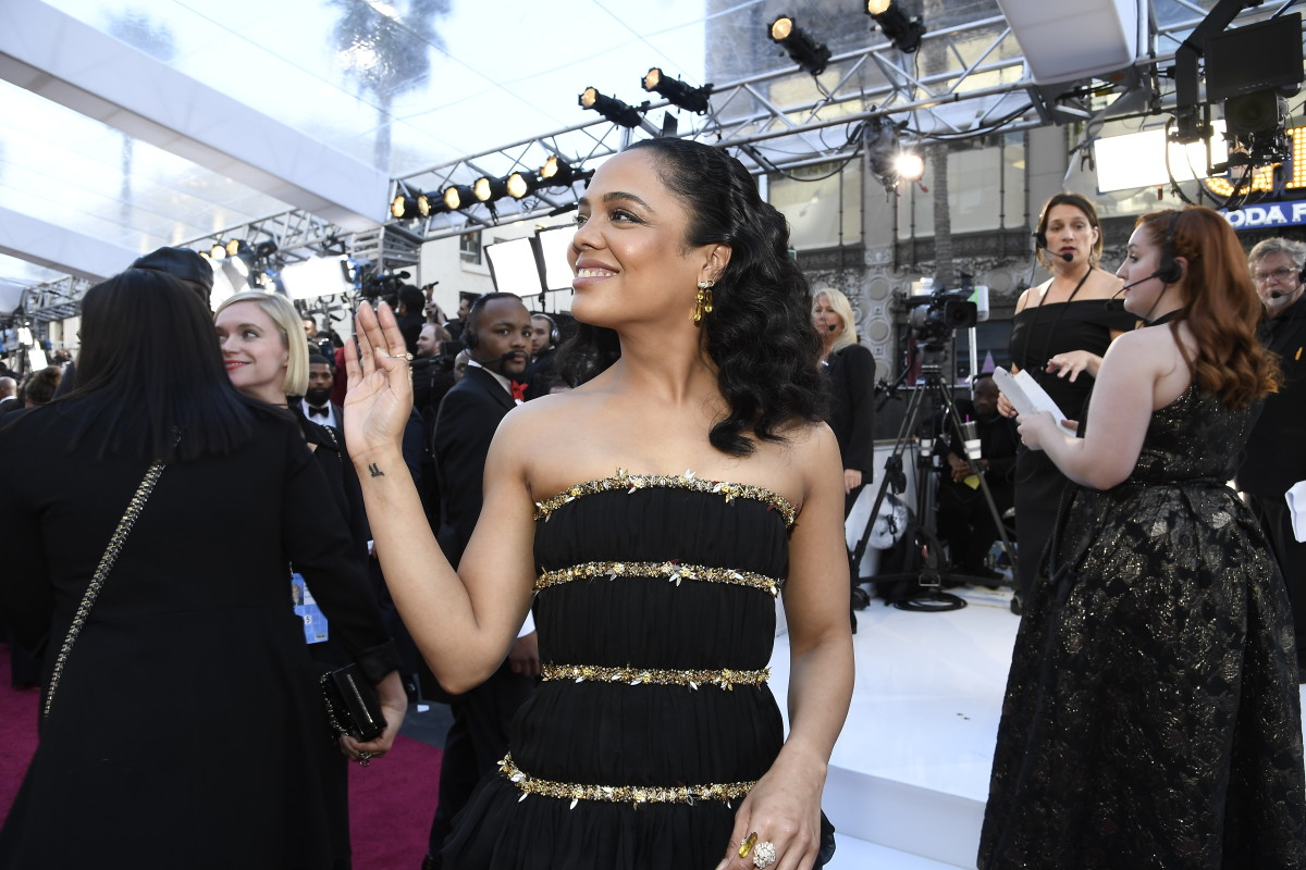 Tessa Thompson in Chanel at the 91st Annual Academy Awards. Photo: Kevork Djansezian/Getty Images