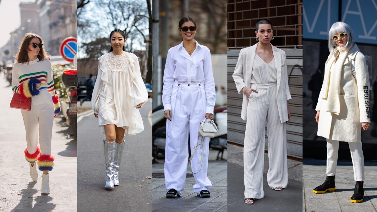 On the street at Milan Fashion Week. Photos: Chiara Marina Grioni/Fashionista (2), Imaxtree (3)