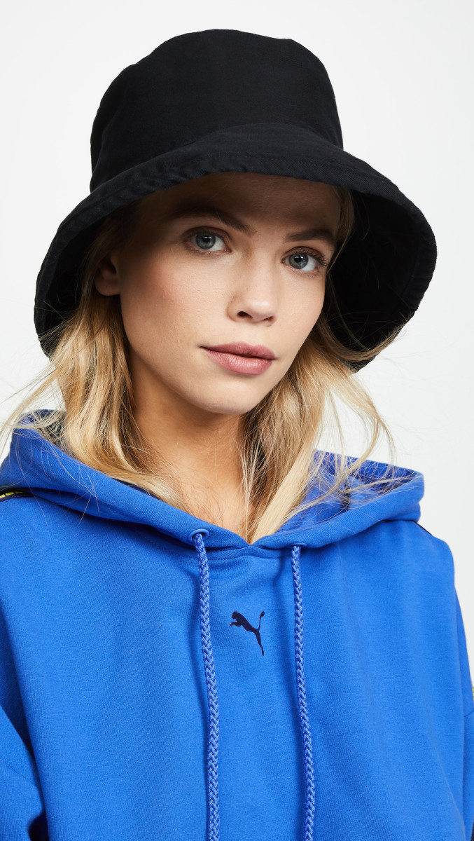 Hat Attack Washed Cotton Bucket Hat, $42, available here.