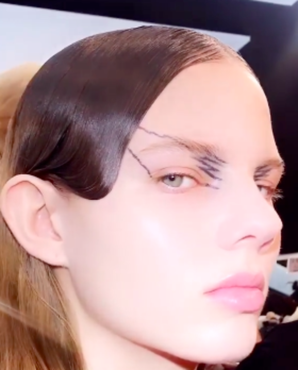 The beauty look from Maison Margiela's Fall 2019 show. Photo: Courtesy of Pat McGrath