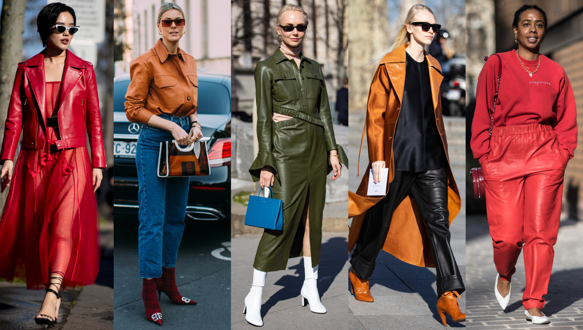 Fashion Picture: Colorful Leather Was Everywhere On Day 2 Of Paris Fashion