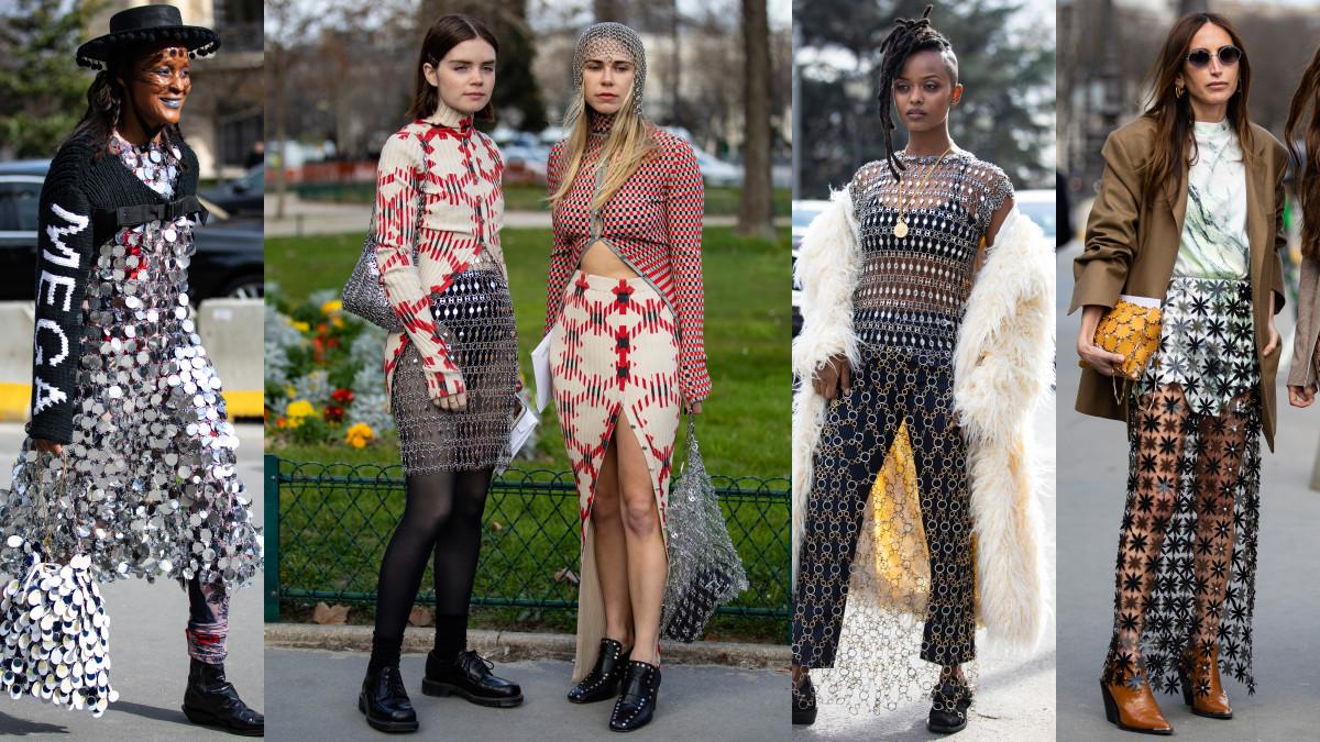 Chainmail at Paris Fashion Week. Photos: Chiara Marina Grioni/Fashionista
