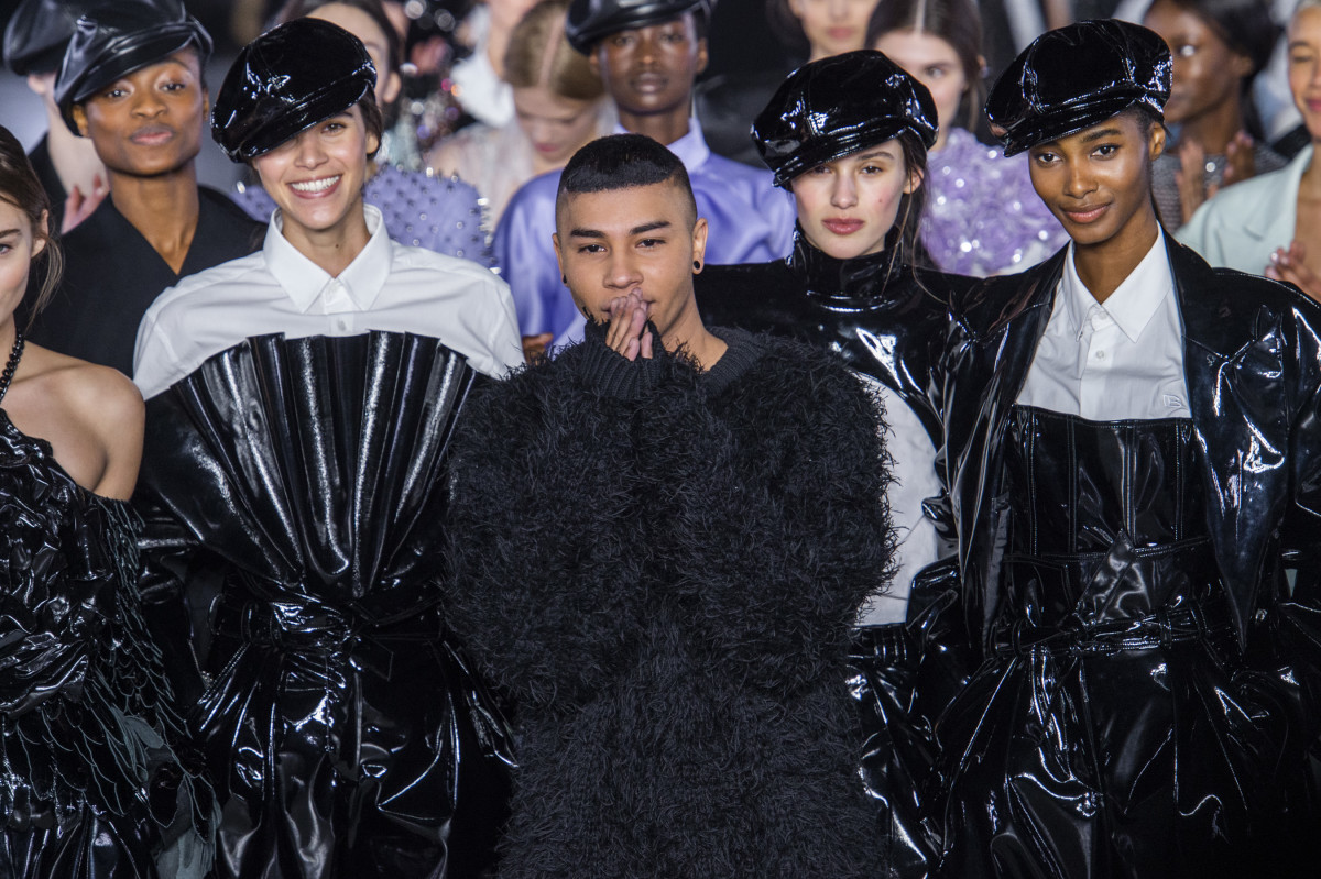 From the finale of Balmain's Fall 2019 show. Photo: Imaxtree