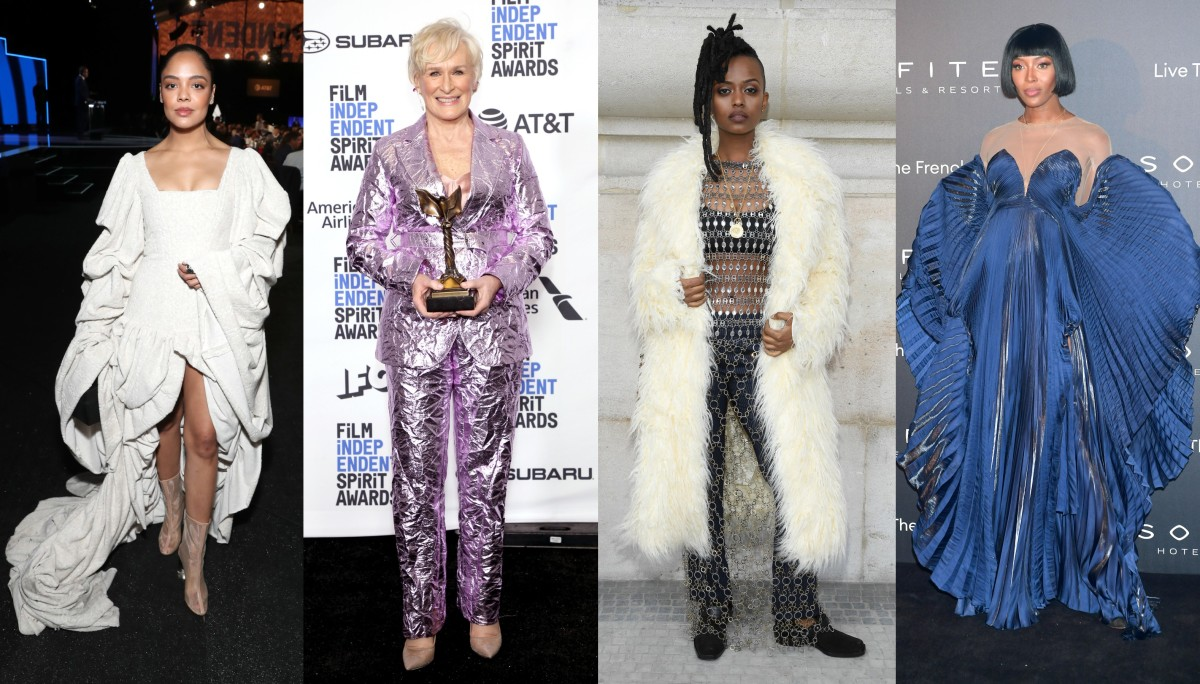 L-R: Tessa Thompson, Glenn Close, Kelela and Naomi Campbell. Photos: Getty Images