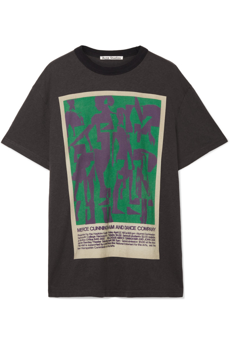 Acne Studios Esmeta Printed Cotton-Jersey T-shirt, $240, available here.