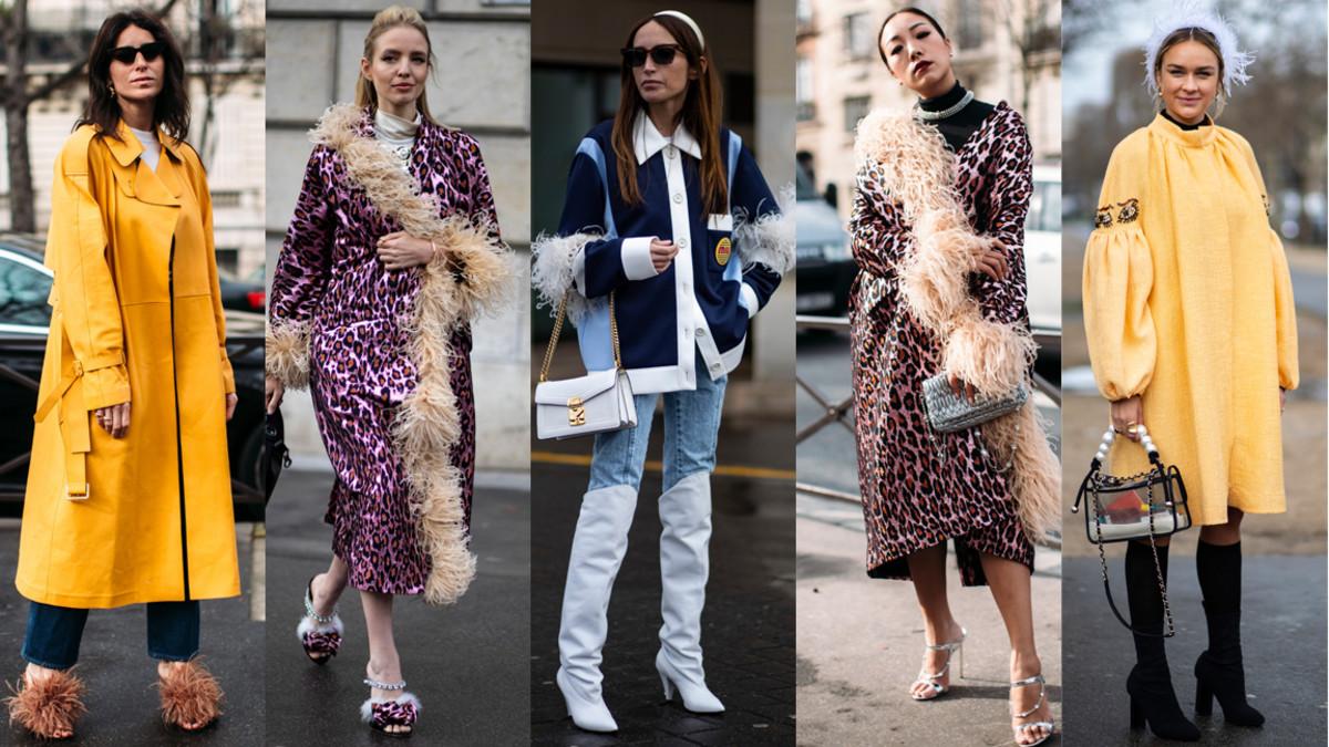 Feathers at Paris Fashion Week. Photos: Imaxtree; Chiara Marina Grioni (2); Imaxtree (2)