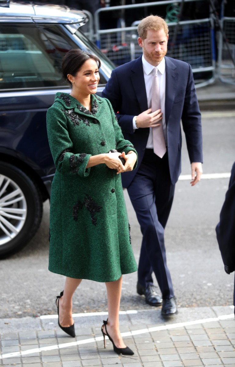 Meghan, Duchess of Sussex, in a custom Erdem coat and dress at a Commonwealth Day Youth Event at Canada House. Photo: Chris Jackson - WPA Pool/Getty Images