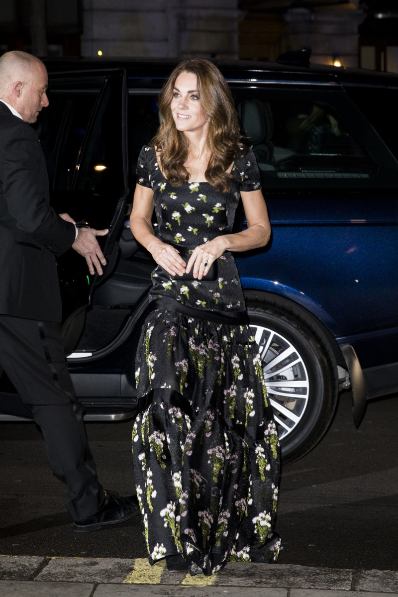 Kate Middleton, the Duchess of Cambridge, in Alexander McQueen at the 2019 Portrait Gala in London, England. Photo: Tristan Fewings/Getty Images