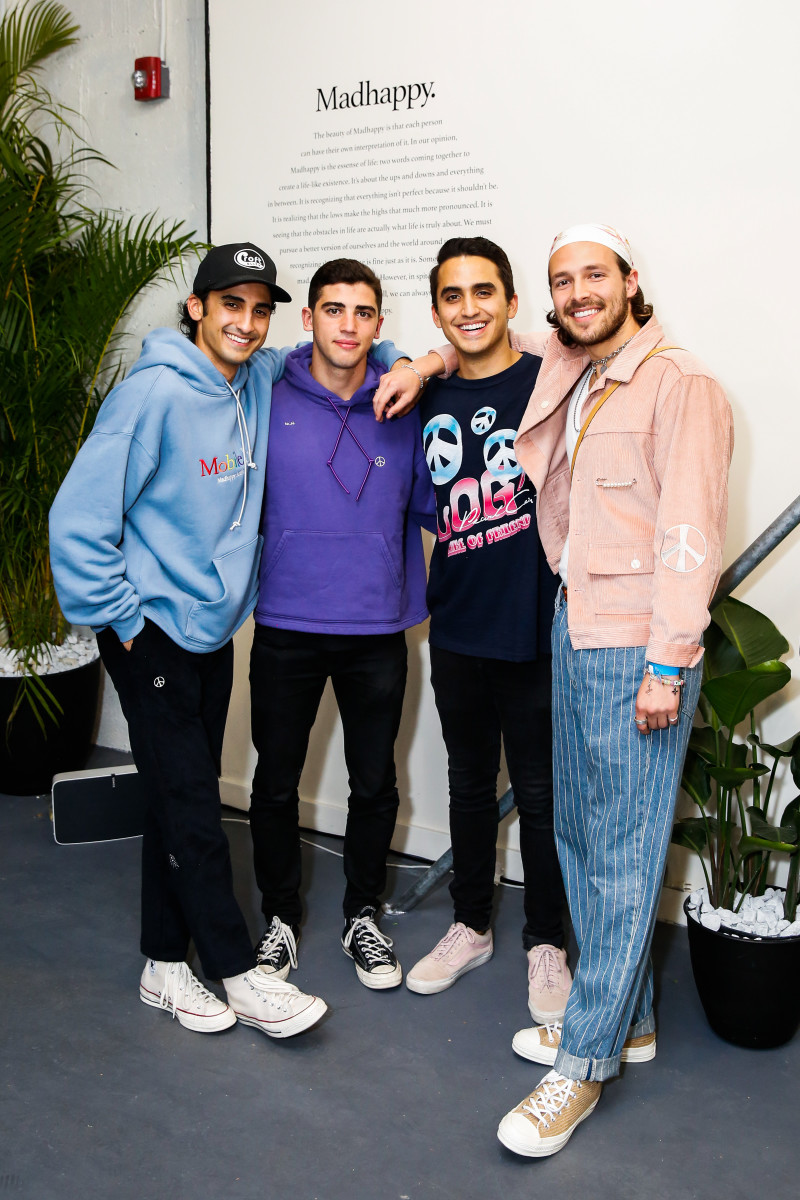 Noah Raf, Joshua Sitt, Peiman Raf and Mason Spector. Photo: Courtesy of Madhappy