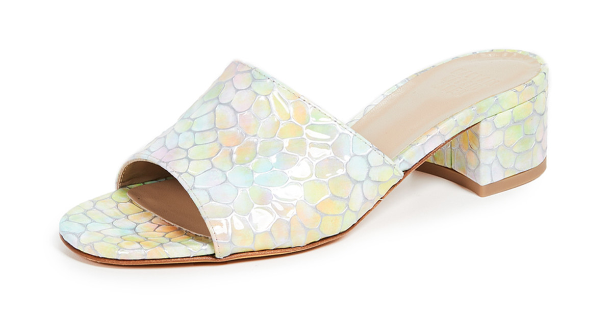 79c4a92cfeb0 The Slide Shoes That Will Have Alyssa Channeling  The Rainbow Fish  All  Summer - Fashionista