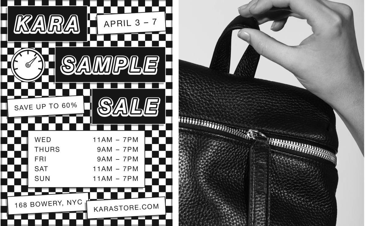 KARA ANNUAL SAMPLE SALE - NYC & ONLINE - Fashionista