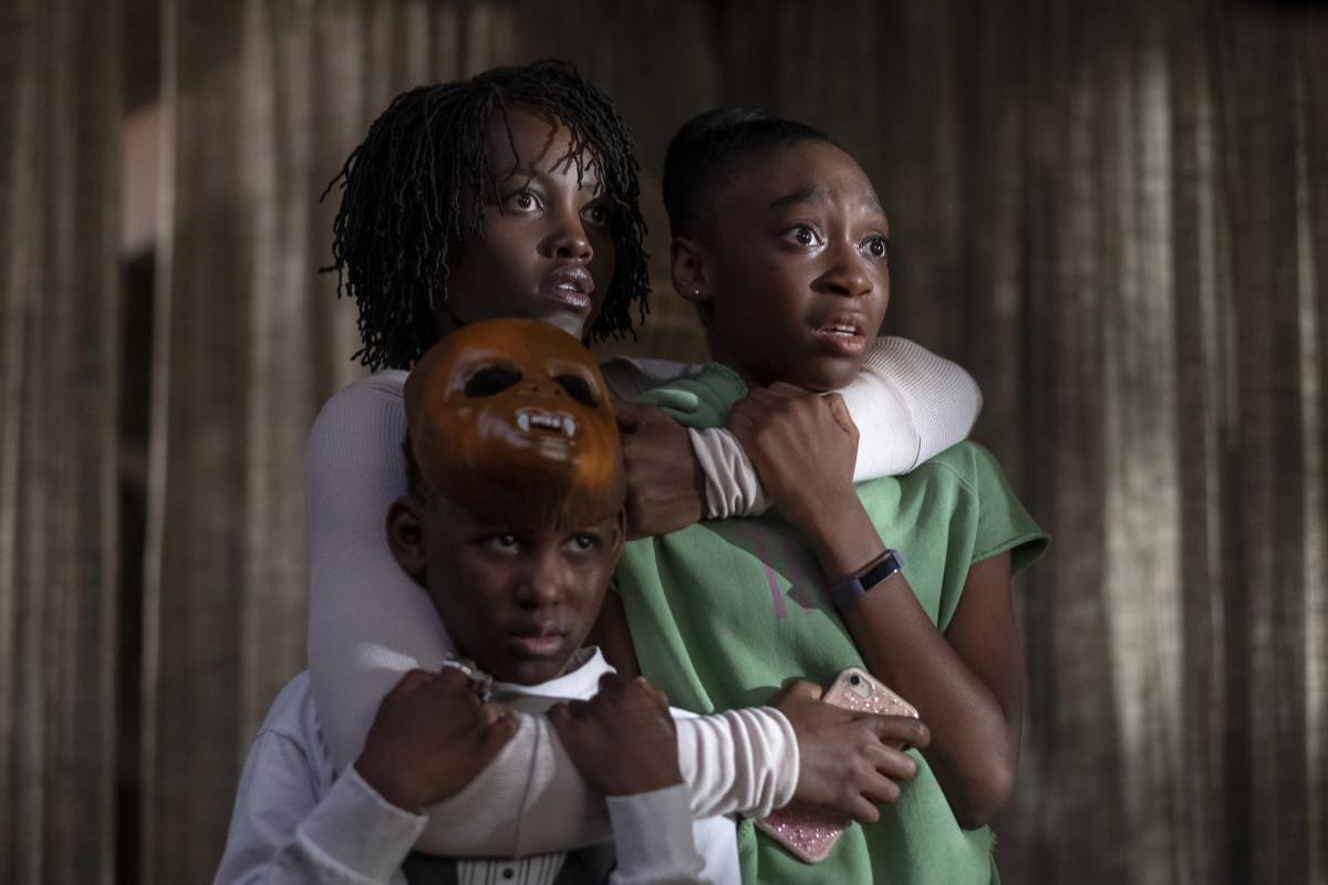 Adelaide Wilson (Lupita Nyong'o), Jason (Evan Alex) and Zora (Shahadi Wright Joseph). Photo:Claudette Barius/Universal Pictures