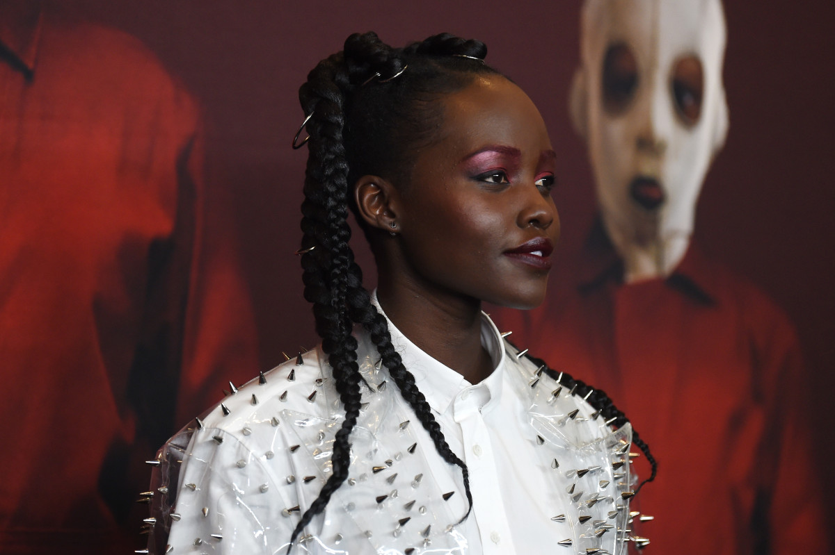 "Lupita Nyong'o in Balmain at the premiere of ""Us."" Photo: Jamie McCarthy/Getty Images"