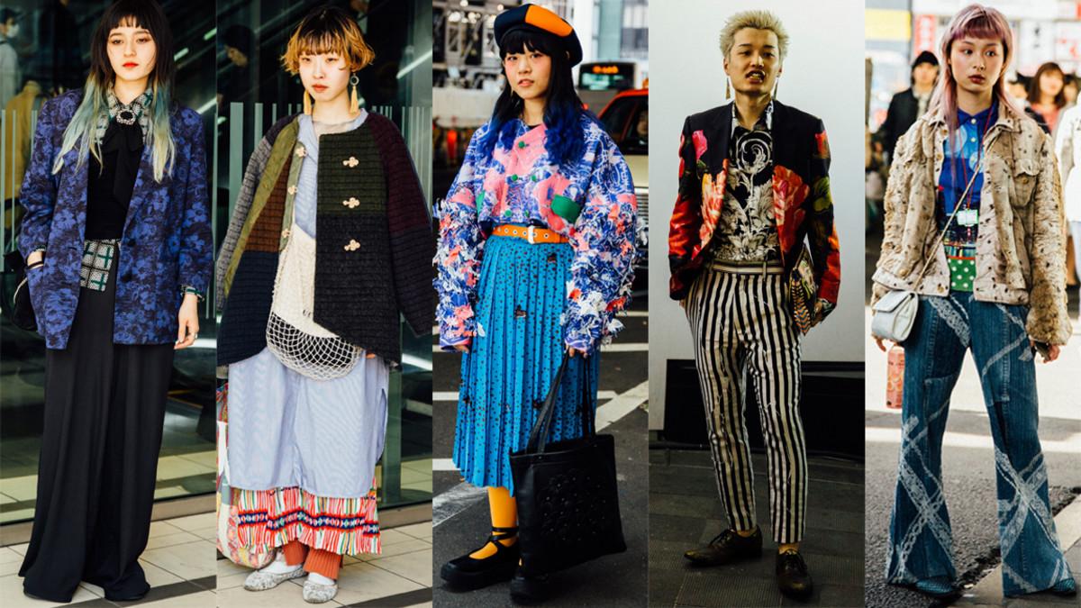 Clashing prints at Tokyo Fashion Week. Photos: Emily Malan/Fashionista